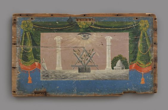 This Masonic painting is hidden on the underside of a chest lid #MysteryBenevolence https://t.co/tASrzbjIEt https://t.co/MWQCCj8QFi