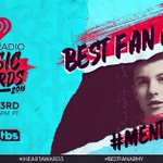 Last but not least #MendesArmy is nominated for #BestFanArmy at our #iHeartAwards! RT or use https://t.co/aPueslpaIw https://t.co/CqDHeX4m8c