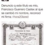 """""""Francisco Guerrero"""" denuncia en varias ocasiones, que el título que supuestamente pertenece a bachelet, es de el. https://t.co/O5VBktlB0B"""