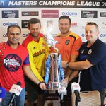 RT @faizanlakhani: Ahead of #MCL2020 Semi Finals, Virender Sehwag, Adam Gilchrist, Graeme Smith & Scott Styris pose with MCL's Trophy. http…