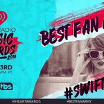 RT to vote #Swifties for #BestFanArmy at the #iHeartAwards @iHeartRadio Every RT = 1 Vote ???? https://t.co/DPfjdRNCif