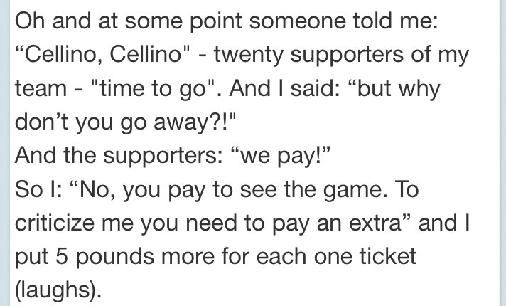 Cellino actually said this. Leeds fans need to know so give it RT. #lufc https://t.co/9VKiRNhme4