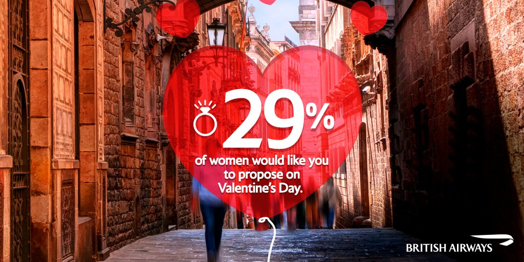 1/3 of women want you to propose on ValentinesDay! So PutARingOnIt then jet off somewhere: