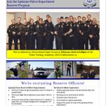 Were recruiting Reserve Officers! Interested? Attend our Open House,Feb.22 @ 6p  @ the Academy, 2302 N Waterworks https://t.co/hM6CVrs0H0