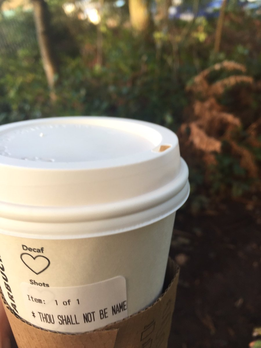 Told the barista at @Starbucks my name was Voldemort. This is what they put on my coffee. #win @jk_rowling https://t.co/EmNnSnRXGz