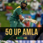 50 for Amla in 63 balls. SA now 127/0 in the 23rd over. De Kock 74*. Target 319 #MomentumODI #SAvENG #ProteaFire https://t.co/5bybrRQ1pd