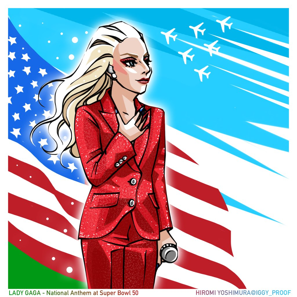 [My Drawing]  Lady Gaga at Super Bowl 50