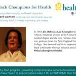 Day 9 of #nhhealthystart #blackchampions4health Dr. Rebecca Lee Crumpler #blackhistorymonth https://t.co/AqsNSex7H1 https://t.co/erOTVA5oj6