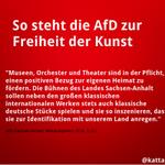 Freiheit der Kunst? Dagegen gibts doch was von der #AfD! https://t.co/r1V4ILmEZ5
