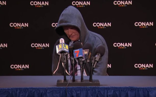 Conan O'Brien mimics Cam Newton in 'Post-Joke Press Conference':
