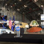 Pretty good seats for #StateOfNASA here at @NASA_Langley is that @NASA_Orion I see in the back? https://t.co/hBZI6ZA4ka