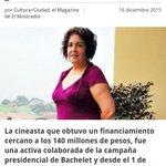 Pago de favores políticos-->Tatiana Gaviola $140 millones por Fondart,$40 por el documental,y otros $27 como asesora https://t.co/53wu0sniuv