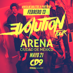 #EVOLUTIONTOUR   21/05 @ArenaCdMexico 🚩 https://t.co/ifhi5vfUy6