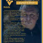 KU at the Phog and Dickie V on the call. My suggestion - hit mute and play #HuggsDrinkingGame. Rules here: https://t.co/kkGv3z3II2