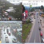 Afluencia vehicular en vía #Alóag. Conduzca con precaución, al momento calzada mojada. #FeriadoSeguro https://t.co/7NOo6qEwnG