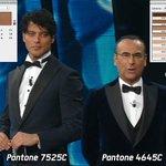 A @sanremorai: Carlo Conti = Pantone 7525C @garkoofficial = Pantone 4645C #Sanremo2016 https://t.co/tqmPmaXVXn