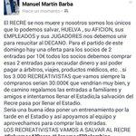 Los RECREATIVISTAS vamos a salvar al Recre #SalvemosAlRecre #LlenemosElColombino #Recre https://t.co/gmZNwKh3hT