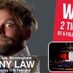 #WIN 2 TICKETS to see @mrTonyLaw at @TheGleeClub #Birmingham on 17 February. FOLLOW & RT by 14/2 to enter! https://t.co/DEJcgC9Wjg