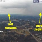 Our Tall TowerCam showing the patchy nature of these snow showers quite clearly. #wralsnow https://t.co/CJHDUjsRAs
