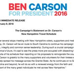 .@RealBenCarson doesnt want a repeat of Iowa and is letting us all know now hes not dropping out https://t.co/9xo3HMIXxS