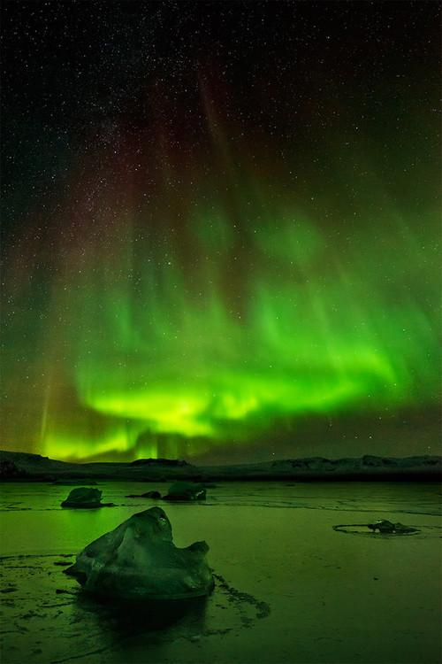Stunning green aurora | Photography by ©Carlos Turienzo https://t.co/VTcyCMSObo