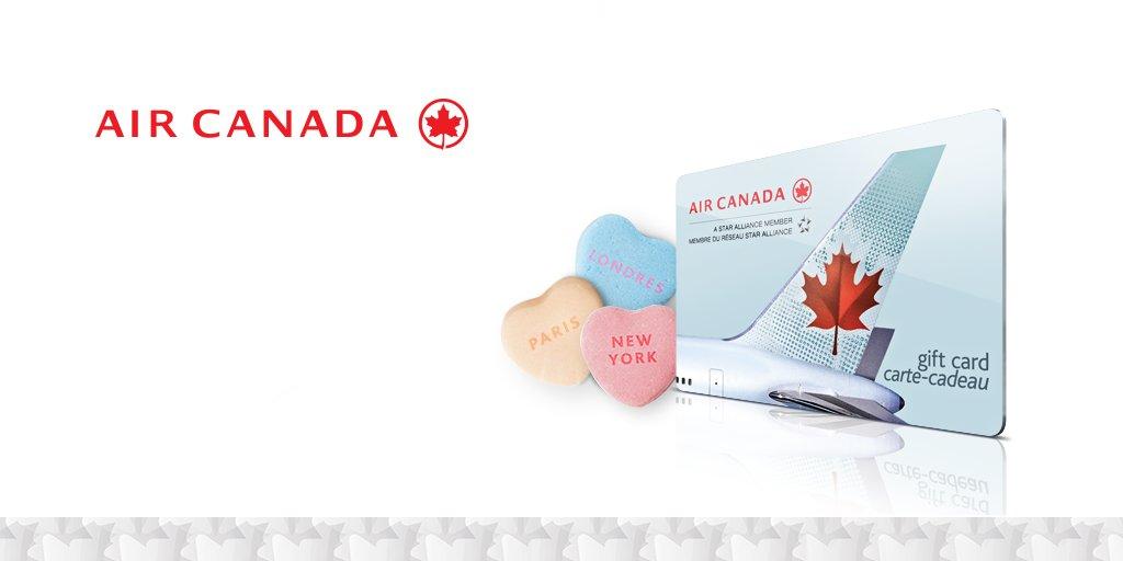 Pour la SaintValentin, offrez-lui le monde avec la Carte-cadeau Air Canada!