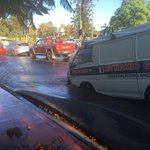 Burst water main causing traffic chaos at Charles/Vincent Sts, North Perth. Road has collapsed under a van. #9News https://t.co/xpzvR9Dc2r