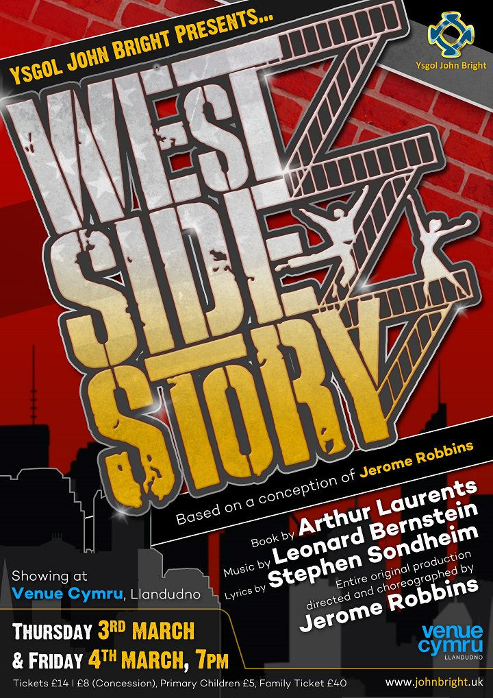 .@ysgoljohnbright return with another amazing production, #WestSideStory! 3-4 Mar / Tickets: https://t.co/mu0efgMvgw https://t.co/ipY66joapX