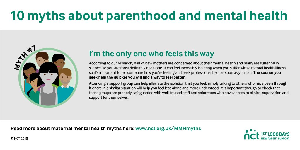 It's a myth that you're the only one struggling with mental health issues. Many mums do. #BeyondBabyBlues #MumTalk https://t.co/d3yZXYQhXU