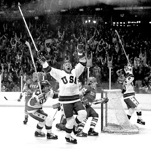 36 years ago today, Mike Eruzione (SED'77) scoring the game-winning goal in the legendary #MiracleOnIce game. https://t.co/Ej3MvcPhbZ