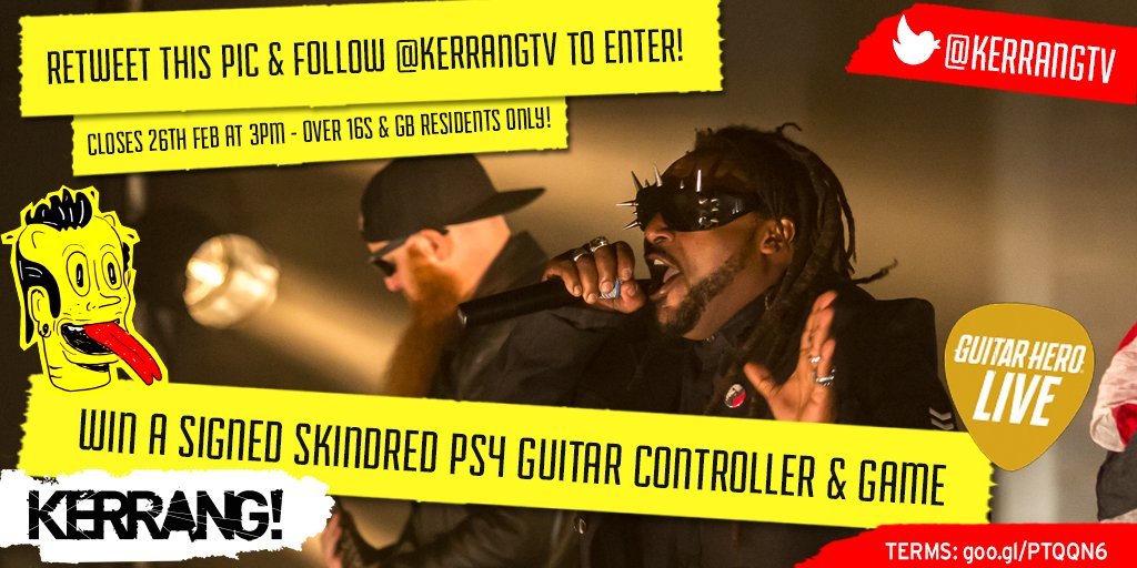 .@Skindredmusic fans! RT & follow to #win a SIGNED #GuitarHeroLive #PS4 guitar controller & game from @GuitarHeroUK https://t.co/kkq2M5aUJe