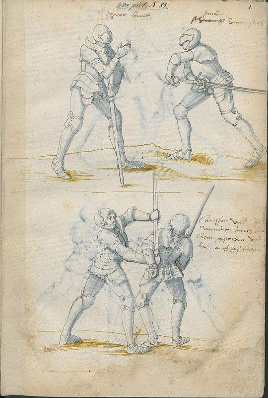 #manuscrit Manuel de combat à l'epee - XVIe -02 https://t.co/I5W5LjmR3T