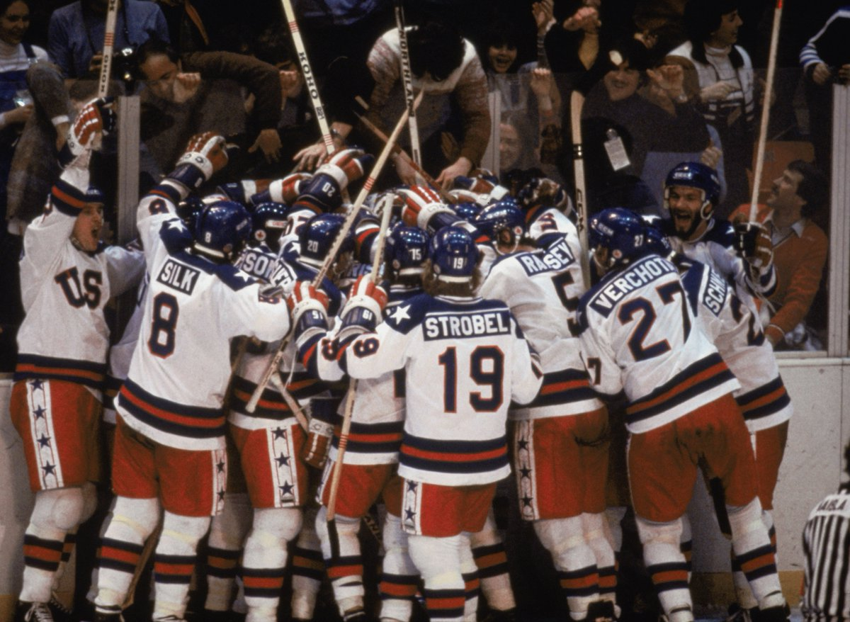 "36 yrs ago today, @usahockey beat the Soviets. Relive the #MiracleOnIce w/ ""A Day That Changed The Game"" at 1 & 4pE! https://t.co/2WUvOnGmSr"