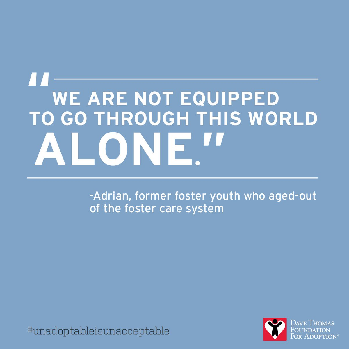 More than 23,000 children age out of US #fostercare every year. RT to raise awareness #unadoptableisunacceptable https://t.co/F3AJyQ4wZ7