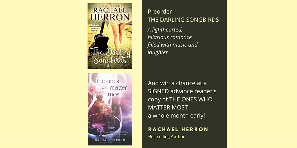 Preorder The Darling Songbirds, have chance to win a signed ARC of The Ones Who Matter Most! https://t.co/spKC8wjSJa https://t.co/5GODc1xq4q