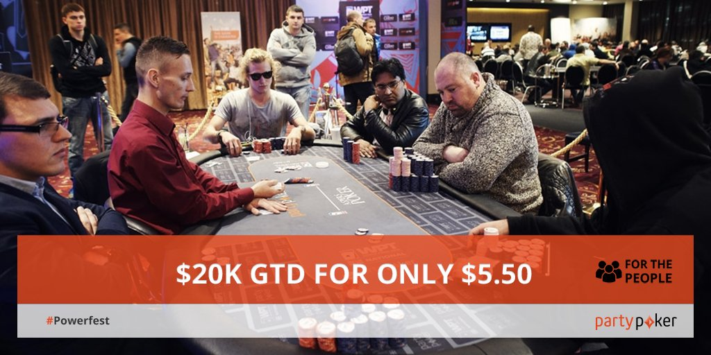 #Powerfest 8, starting at 7pm GMT, has $20K GTD! Retweet for a chance to win $5.50 tickets! https://t.co/S9J3nLhfwp https://t.co/xLDB1u9LaB