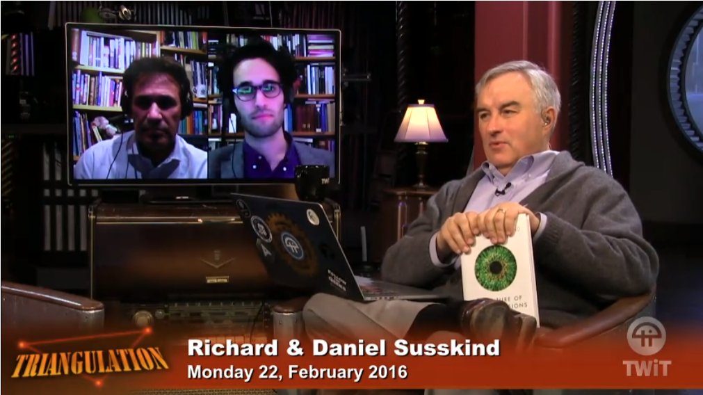 "LIVE NOW on @TWiT @LeoLaporte is talking w/ @danielsusskind @jamiesusskind about ""The Future of the Professions."" https://t.co/FC1pyf0QB2"