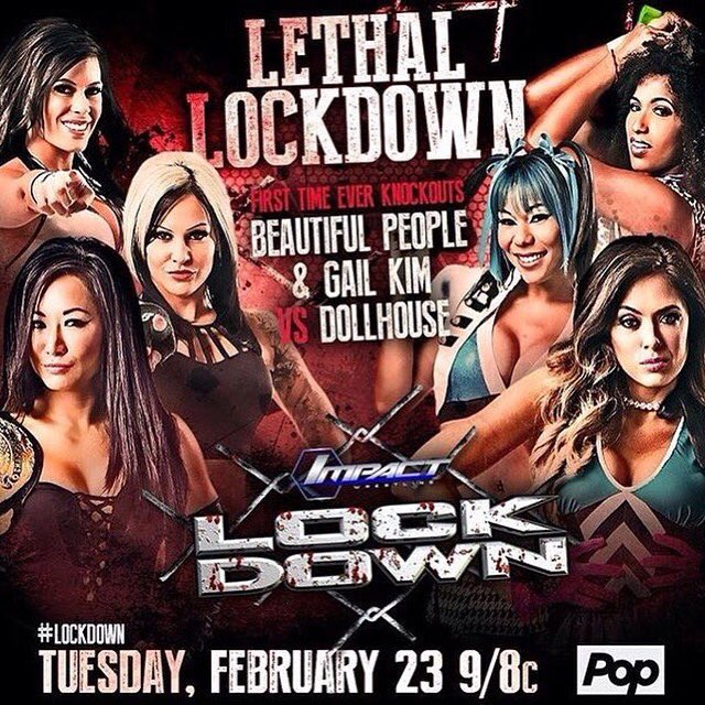 The #Knockouts make history tomorrow in the first ever #KOLethalLockdown match! Watch on @PopTV at 9pm! #ImpactOnPop https://t.co/Sb5XGFlwBh