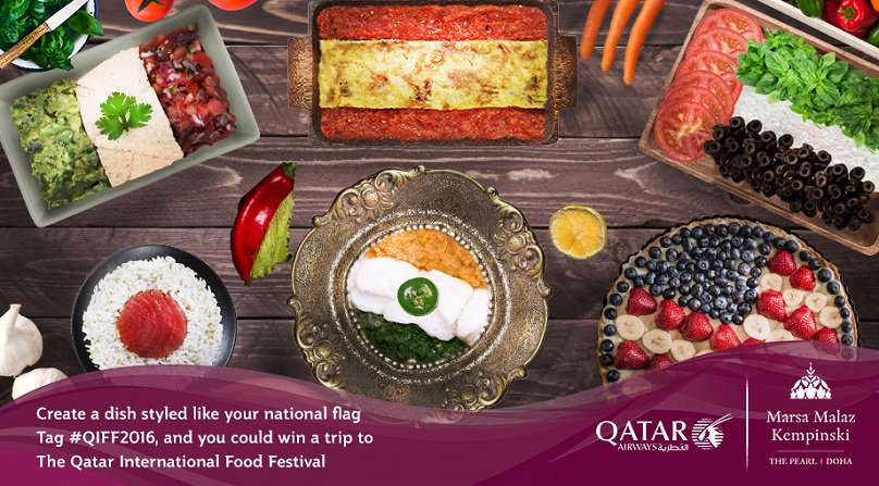 Plate Your Nation & you could win a dream foodie holiday to Doha for QIFF2016 @MarsaMalaz