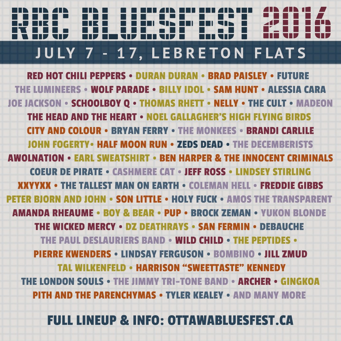 ICYMI: the #RBCBluesfest2016 lineup is out! ottawabluesfest.ca for the full list and more info https://t.co/bTXc0uOR4C