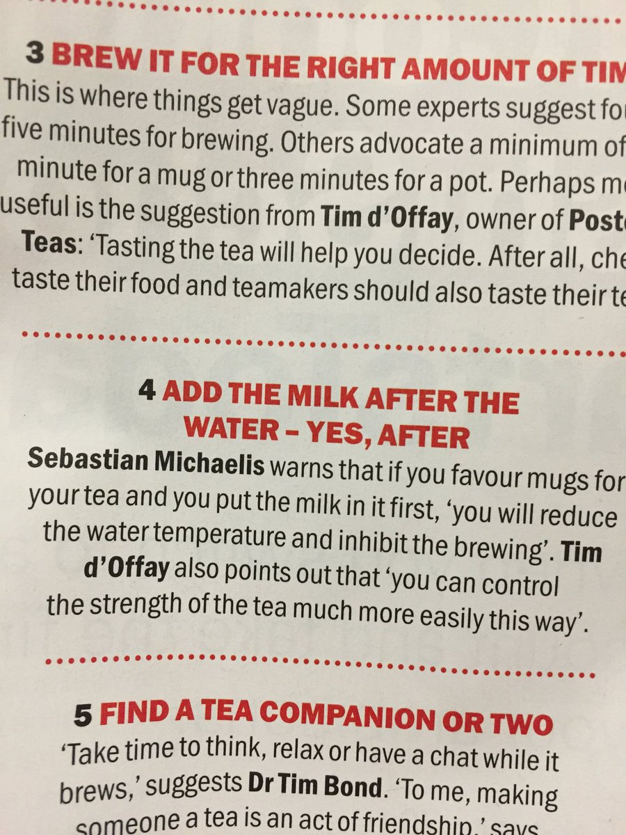 It's official as @TimeOutLondon say so: milk after water not before. https://t.co/nlnMb3cek8