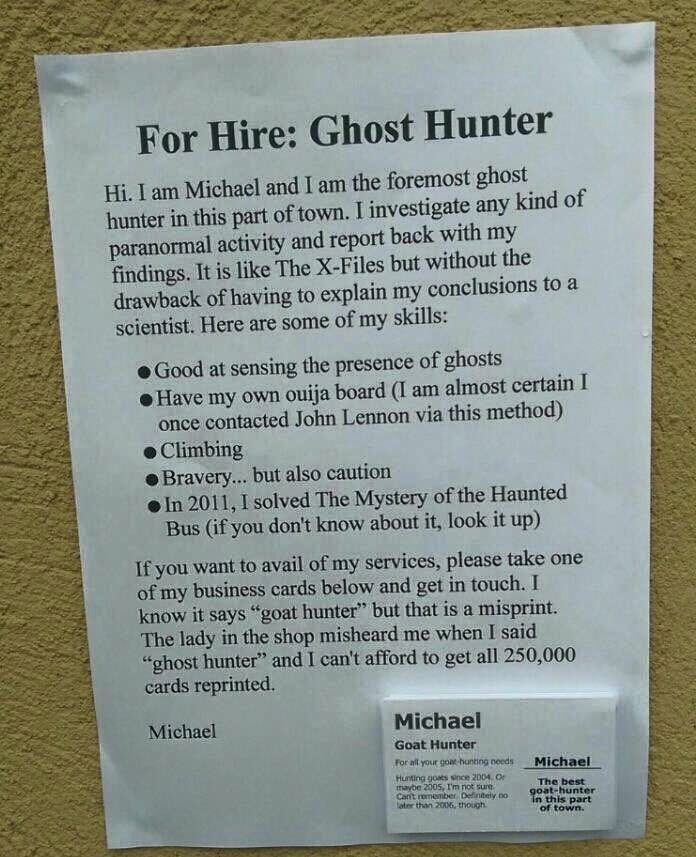 Most important ghost hunting trait? Bravery...but also caution. https://t.co/WmFj6ETwHH