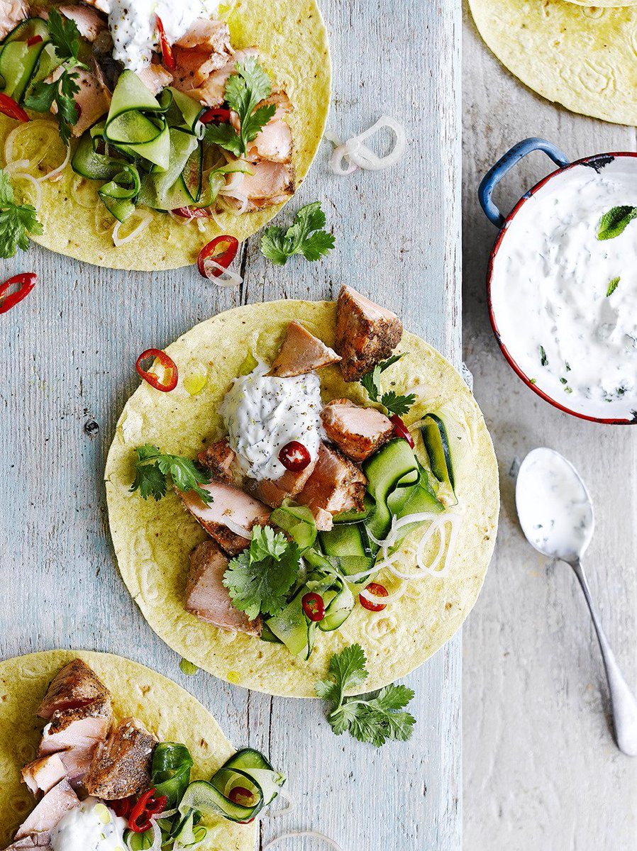 #RecipeOfTheDay is our super easy five-spice salmon tacos from @JamieMagazine: https://t.co/zd7AfCN4at https://t.co/ipFVgsauhh