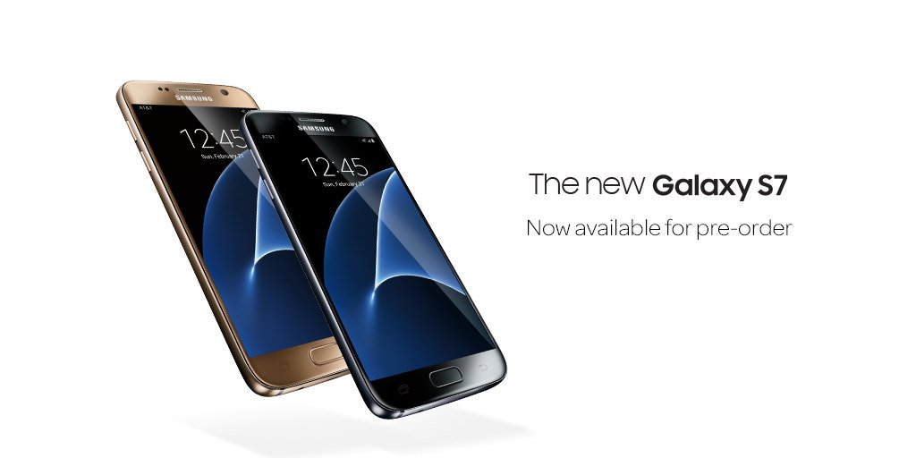 It's here! Pre-order the Samsung Galaxy S7 now. https://t.co/VjAMYAOlrq https://t.co/r1IHcfReZJ