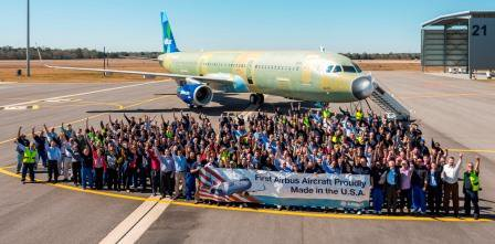 Airbus U.S. Manufacturing Facility Mobile: 1st aircraft now out of production and in paint. Congrats to the team! https://t.co/Az0YtE8hzD