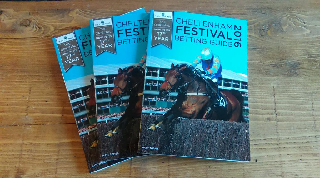 Follow and RT for your chance to win 1 of 3 copies of Weatherbys #CheltenhamFestival  Betting Guide 2016! https://t.co/VWFH3GJWhP