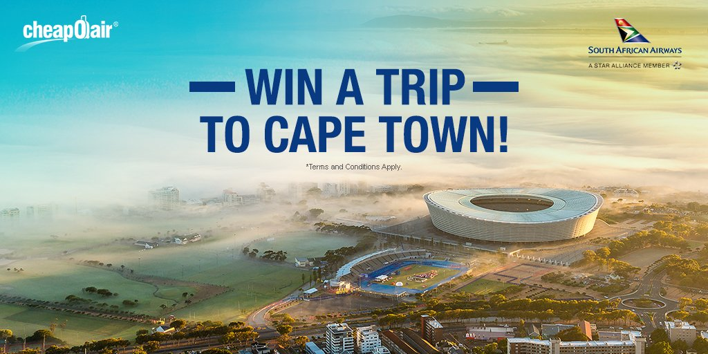 Join us at 1 PM ET for #CheapOairChat with @flySAA and enter to WIN a trip to #CapeTown! https://t.co/mzSuiBHZAb https://t.co/ibkwjyOFya