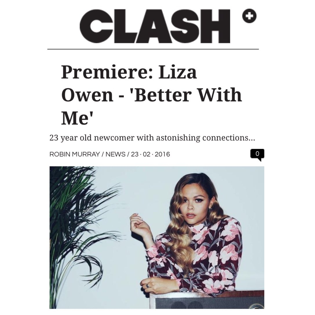 BIG BIG LOVE to @clash_music for premiering my new song 'Better With Me today. Listen at https://t.co/XcZf4cwX2j https://t.co/QGfpoRYdFe