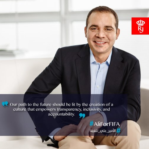 Join us in supporting HRH Prince Ali in his bid in becoming the FIFA president.