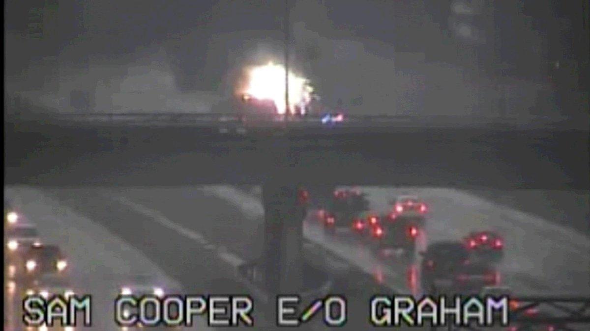 Tdot cameras caught this car explosion on sam cooper. details ...